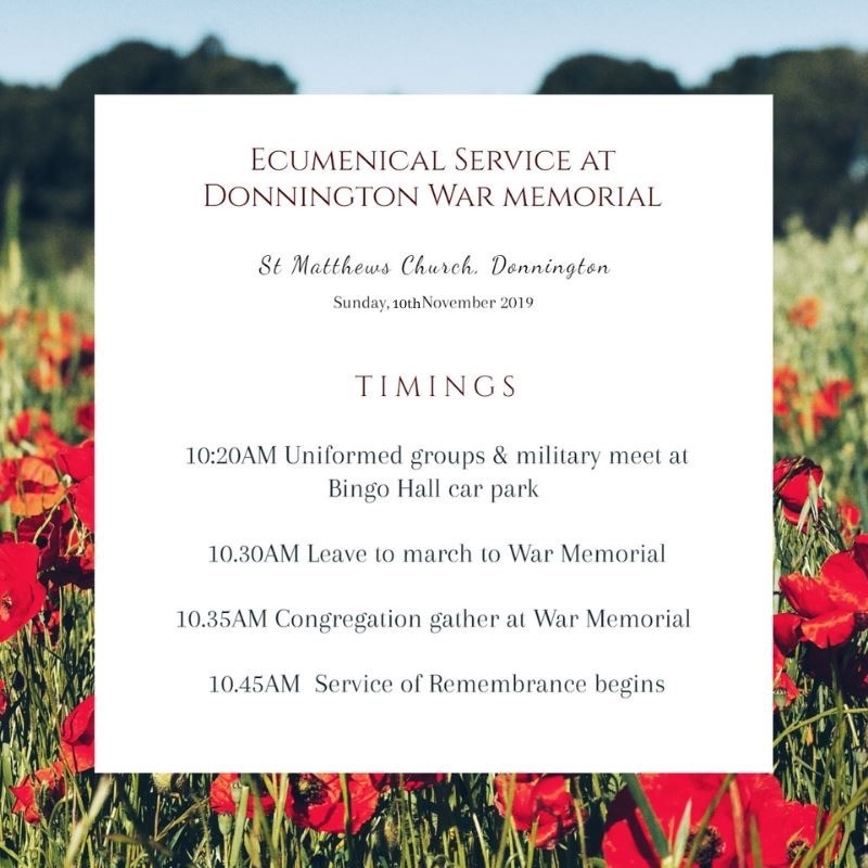 Ecumenical Service Poster