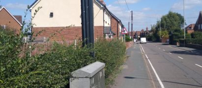 image of wellington road where bus stop should be